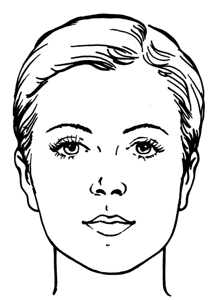 printable face coloring pages | 15 best images about Face chart on Pinterest | Watercolor ...