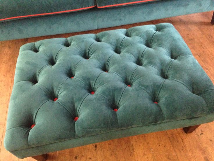 We Have Added A Deep Buttoned Footstool 90 Cm X 60 Cm To Sit Along Side