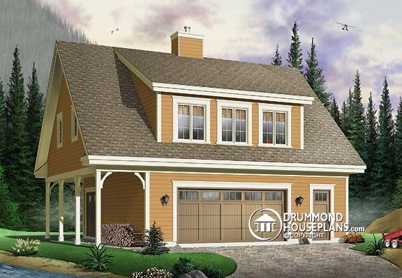 Detached garage plans with living quarters woodworking for Garage designs with living space above