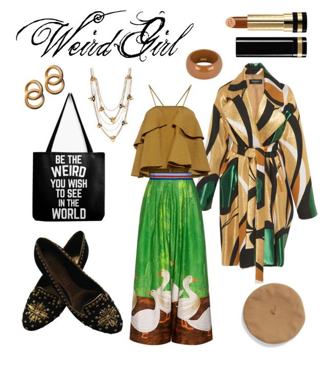 Weird Girl by jessann-harrold on Polyvore featuring polyvore fashion style Rachel Comey Stella Jean Alexander McQueen Dsquared2 Louis Vuitton Laura Lombardi Gucci clothing weird