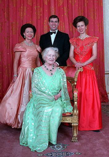 Queen Elizabeth the Queen Mother; Princess Margaret; the Duke of York; Princess Anne.