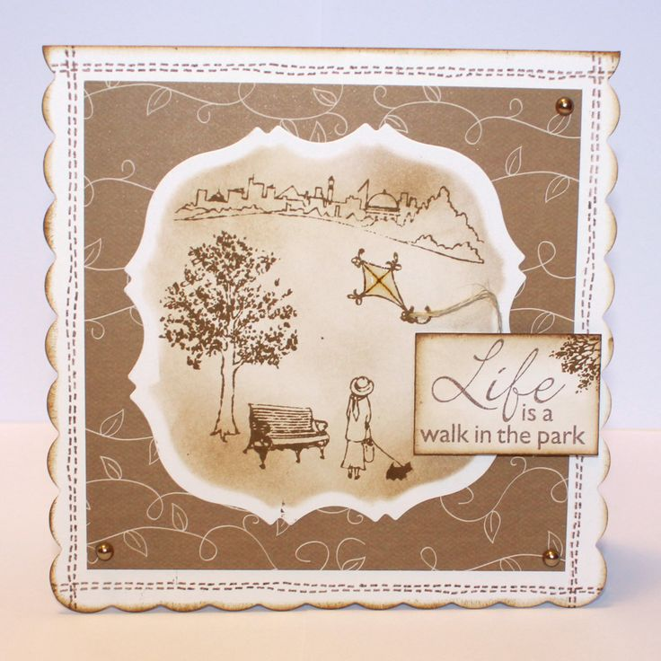 This is the Gorgeous new Walk in the Park designed by Sharon Bennett for Hobby Art. Clear set contains 17 clear stamps as seen on Create & Craft. This Lovely Card was made by Heidi Green