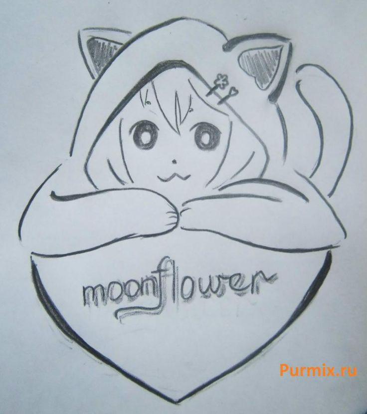 Миньонов, рисунок для любимой девушки карандашом поэтапно