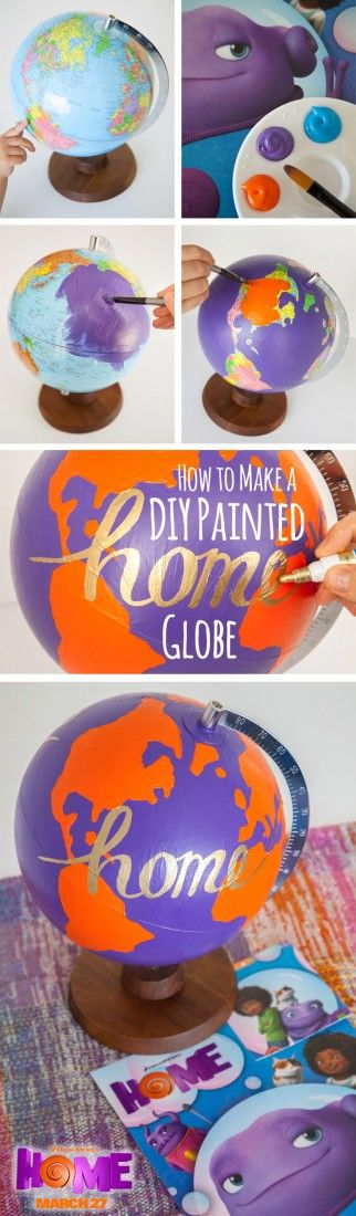 Teach your kids geography with the Oh globe inspired by Home. Customize your colors to anything you want!! Sponsored by DreamWorks.