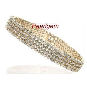 12.00 Karat Diamant Armband aus Gelbgold gefertigt