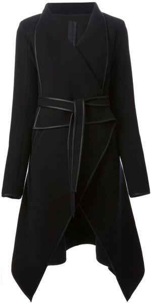 Gareth Pugh Asymmetric Waterfall Coat in Black - Lyst
