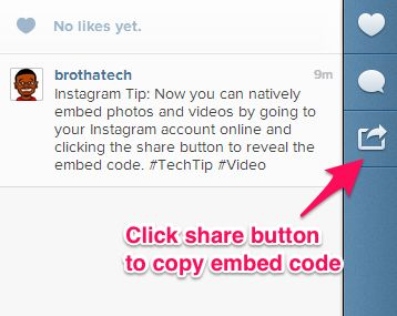 Trying to add Instagram content to a web site was a chore. Now Instagram makes it easy by letting users copy embed code to paste and share anywhere on the web.