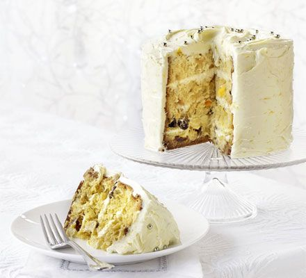 If you've been given a panettone over Christmas but you're not sure what to do with it, try this superfast, special stacked cake