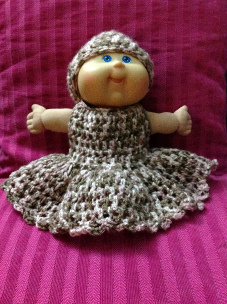 Cabbage patch dress and beanie combo