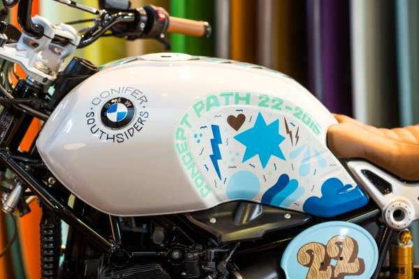 BMW Concept Path 22 scrambler based on the R nineT. Read all about it: http://motorbikewriter.com/bmw-reveals-scrambler-concept/