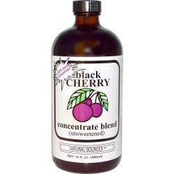 Natural Sources, Black Cherry Concentrate Blend (Unsweetened), 16 Fl Oz (480 Ml), Diet Suplements 蛇