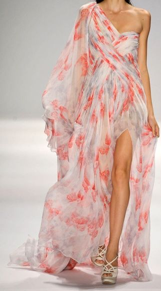 oh how pretty: Long Dresses, Summer Dresses, Fashion, Style, Runway, Prom Dresses, The Dresses, Chiffon Dresses, Floral