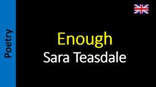 Wisdom - Sara Teasdale
