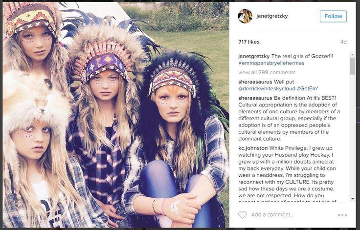 Wayne Gretzky's Wife Gets Social Media Hand-Slap For Headdress Pics