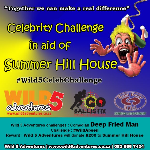@DeepFriedMan has been CHALLENGED to the #Wild5CelebChallenge in aid NPO Summer Hill House http://bit.ly/1jPDPuD