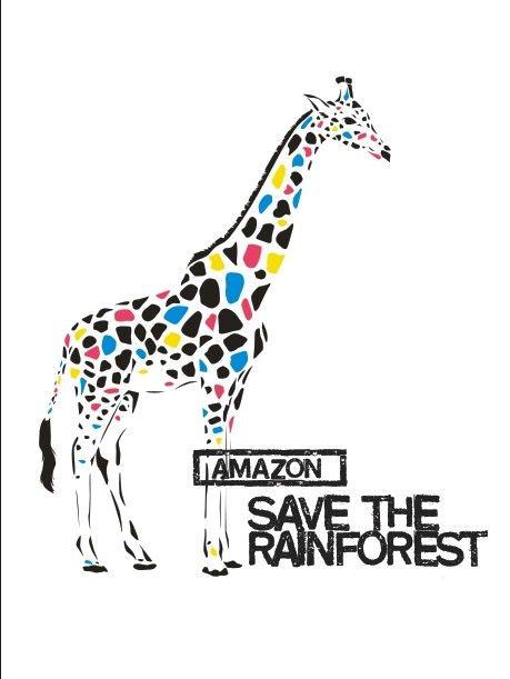 Colored giraffe vector graphics