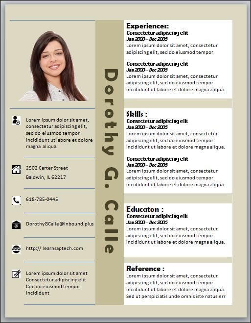 Best Resume Template Microsoft Word Images On