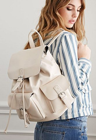 Faux Leather Buckled Backpack | Forever 21 | #f21accessorize