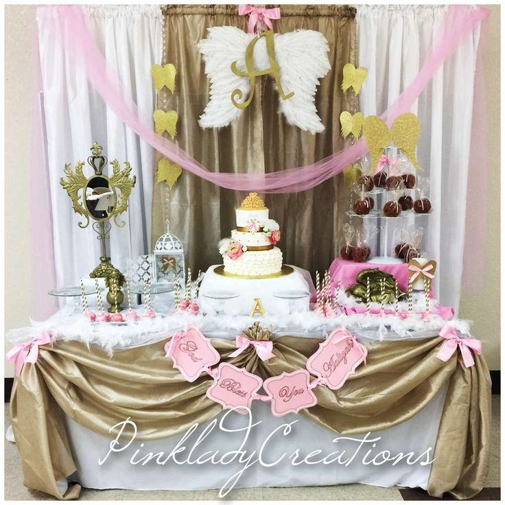 79 best images about baptism ideas on pinterest angel for Baby girl baptism decoration ideas