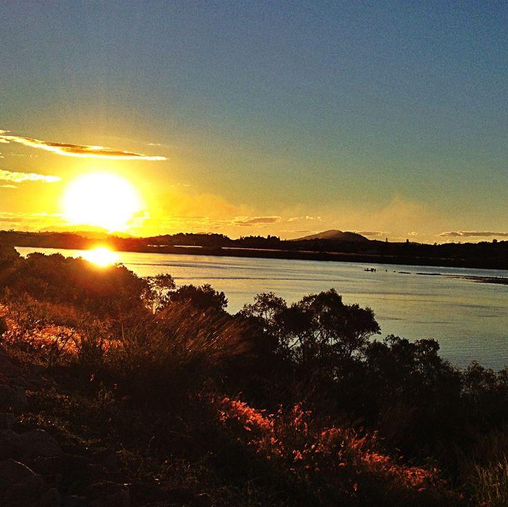 Sunset on Mackay's Pioneer River.