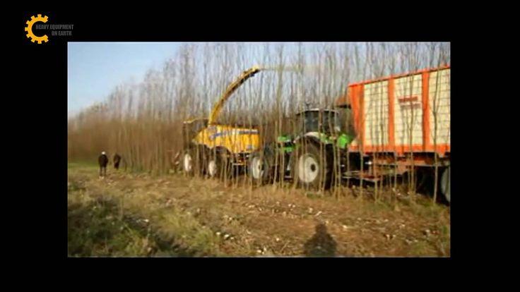 Modern wood harvesting machine, forest harvesting machine, tree harvesting machine