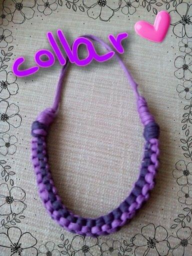 Collar trapillo 2 tonos: lila y morado
