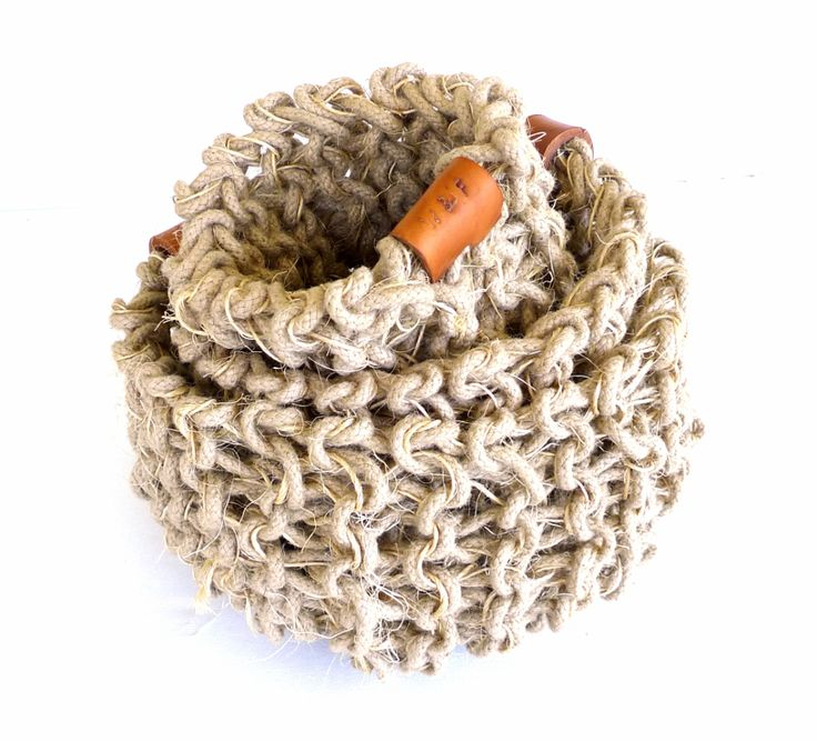 Nest of Jute and sisal rustic baskets
