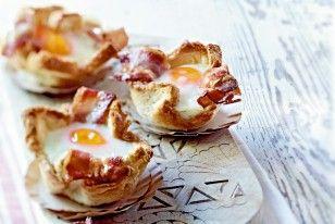 Toastmuffins mit Ei und Speck