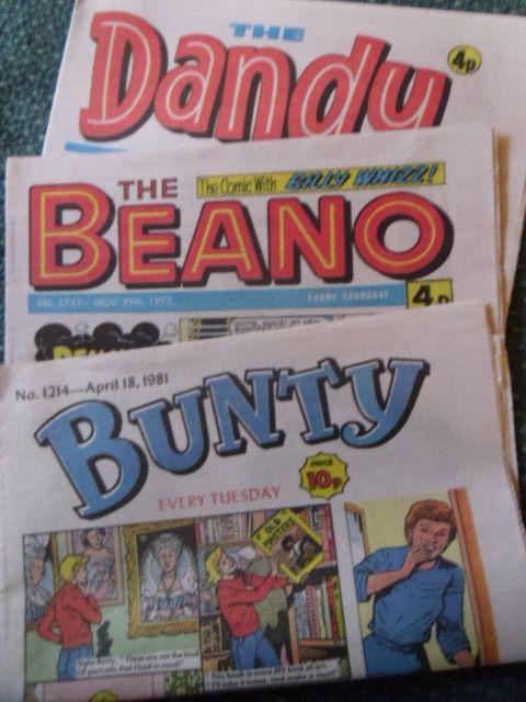 3 reproduction Comics- Beano Dandy and Bunty.
