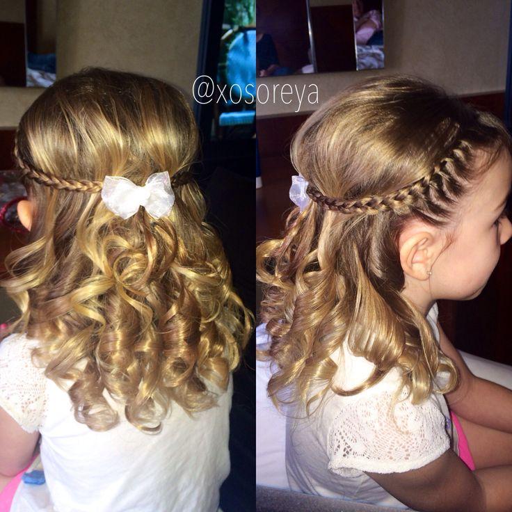 Flower girl hair styles. Flower girl wedding hair