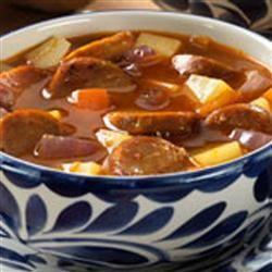 "Spanish Chorizo Recipe   Recipe by Hot Dog Sausage Council   ""Great Zesty Soup!"""