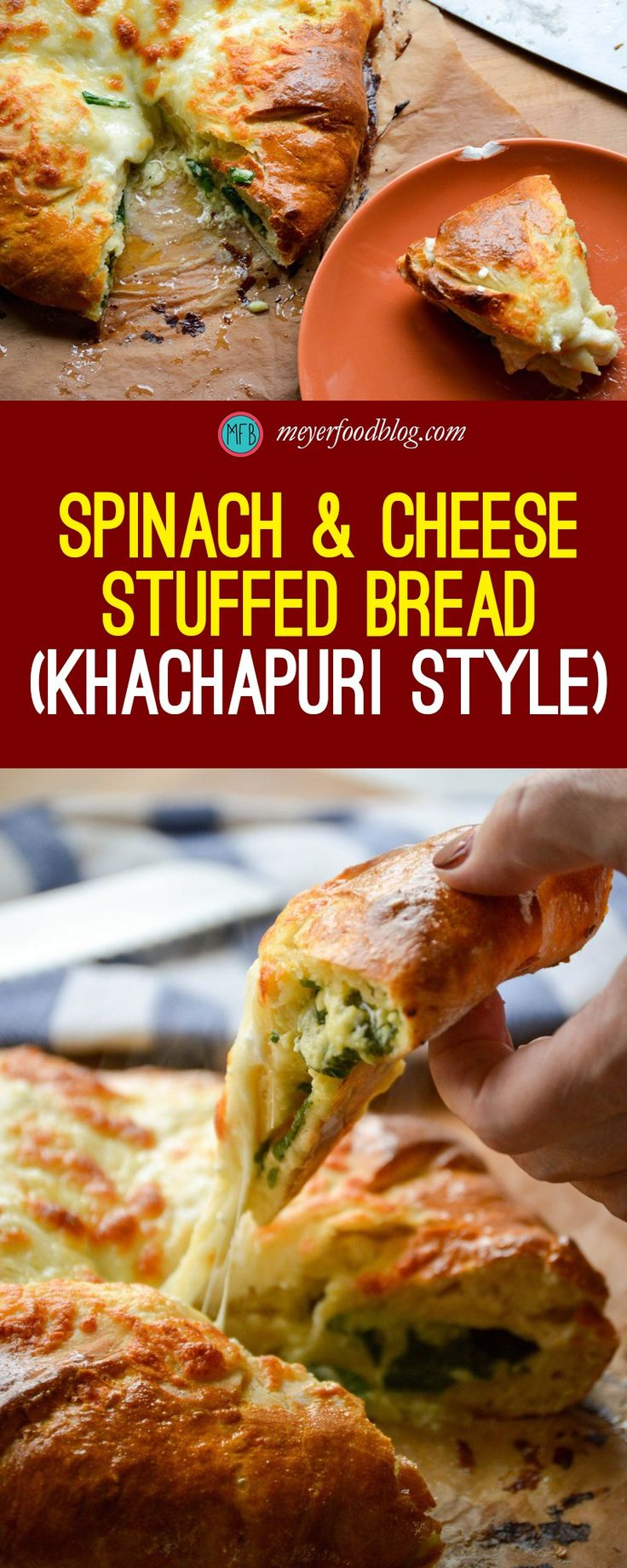 Try our delicious Spinach & Cheese Stuffed Bread - Khachapuri Style