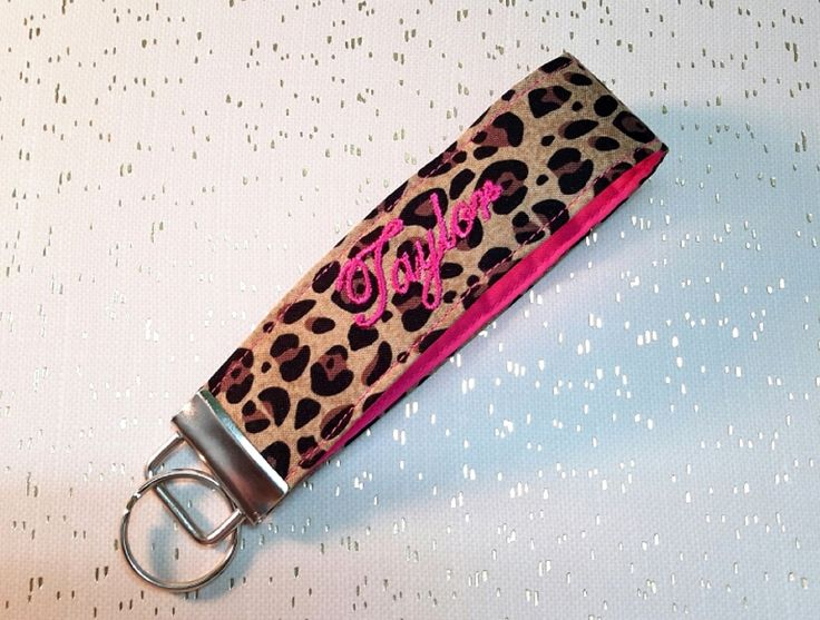 Excited to share the latest addition to my #etsy shop: Monogrammed Keychain Wristlet Cheetah Key Fob Personalized Keyring Custom Color Fabric Keyfob Luggage Tag Initial Tag Monogram Gift for Her http://etsy.me/2Ftmyad #accessorie #monogrammedkeychain #wristlet #keyfob