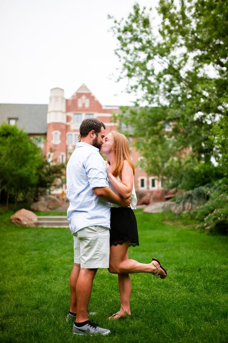 Marriage Proposal at Regis College in Denver, Colorado