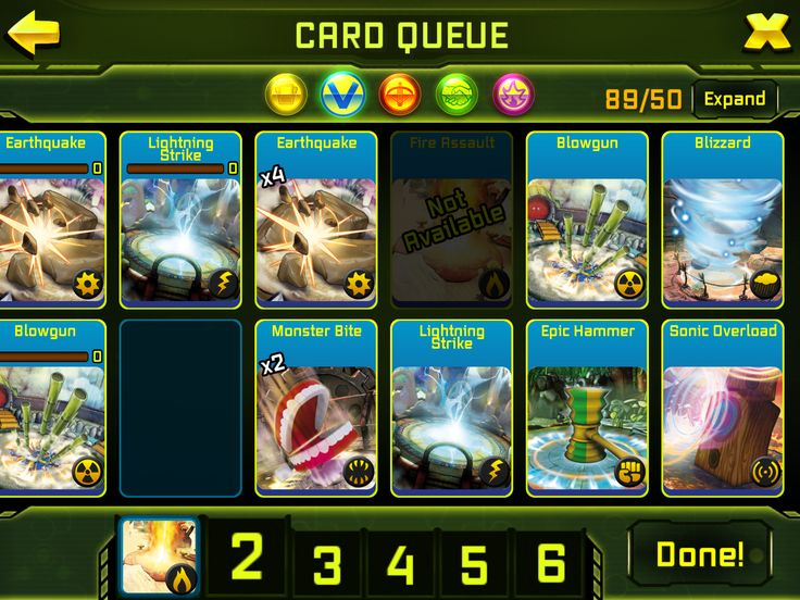 3. To use a vector, drag the vector card to one of the available card slots.