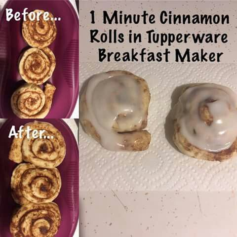 Cinnamon rolls in breakfast maker