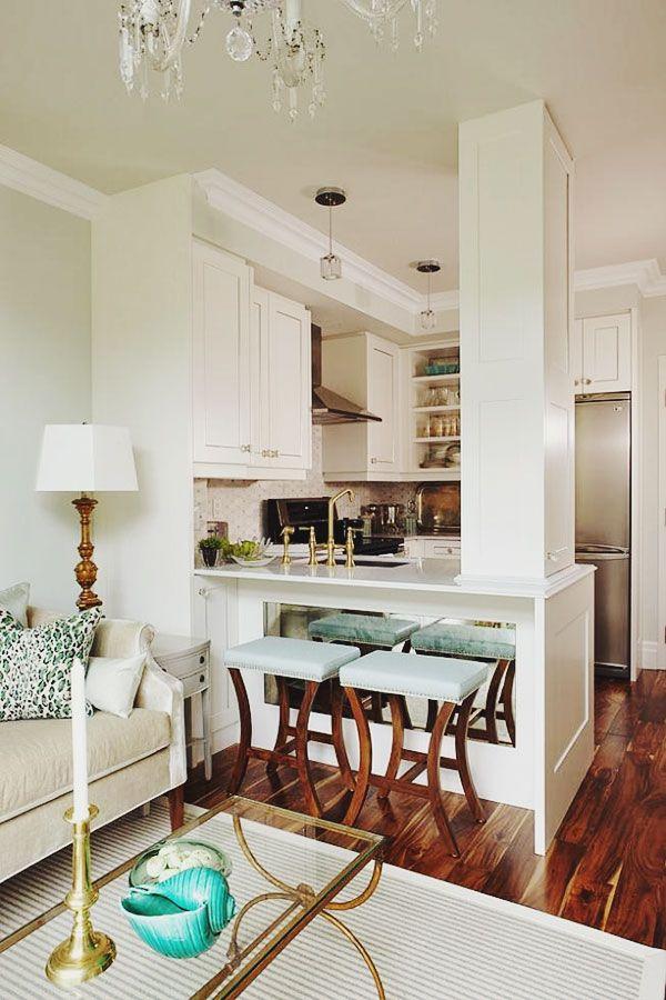Condo living, design by sarah richardson via This is Glamorous. #laylagrayce #kitchen
