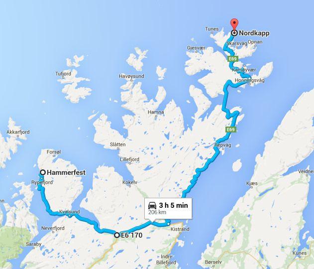 The Best Kirkenes Ideas On Pinterest Norway Bergen And Oslo - Norway map hammerfest