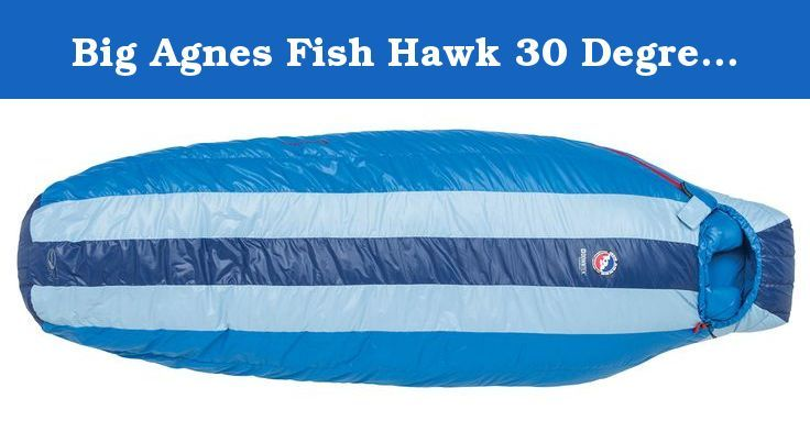 Big Agnes Fish Hawk 30 Degree (2013) Sleeping Bag - Regular Left Zipper. Get classic style warmth, equipped with new age down in the men's Fish Hawk +30 Down Sleeping Bag from Big Agnes. This sleep system is newly outfitted with 650 fill DownTek, a revolutionary water repellent down insulation is perfect for those situations when storms can come out of nowhere. Rectangular shape offers more room, while integrated pad system makes sure that you never roll off your pad again. The Fish Hawk…