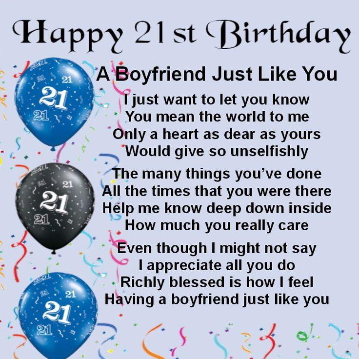 Happy Birthday Poem For Boyfriend: Best 25+ 21st Birthday Poems Ideas On Pinterest