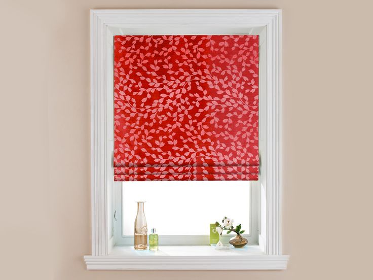 Ziva Red   Roman Blinds | Blinds Supermarket | Window Treatments |  Pinterest | Roman Blinds, Window And Kitchens