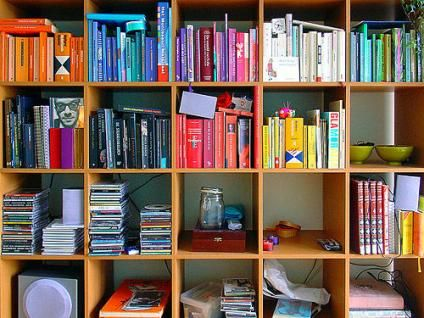 Bookshelf organization | The Wallflower | an SFGate.com blog