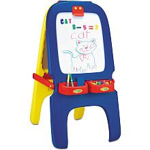 Crayola Magnetic Double-Sided Easel. Have to remember to buy easel paper, dry erase markers & chalkboard chalk too. ;)