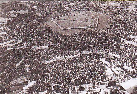 Φωτ.: Πολιτικό δρώμενο σε αστική πλατεία. Συγκεκριμένα, συγκέντρωση στην πλατεία Ομονοίας στη γενική απεργία του Φεβρουαρίου του 1987 (αρχείο Ιστορίας Συνδικάτων).