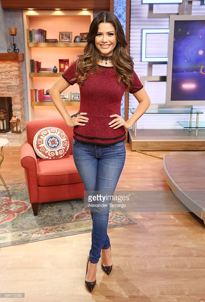 Ana Patricia Gamez is seen on the set of 'Despierta America' at Univision Studios on September 2, 2016 in Miami, Florida.