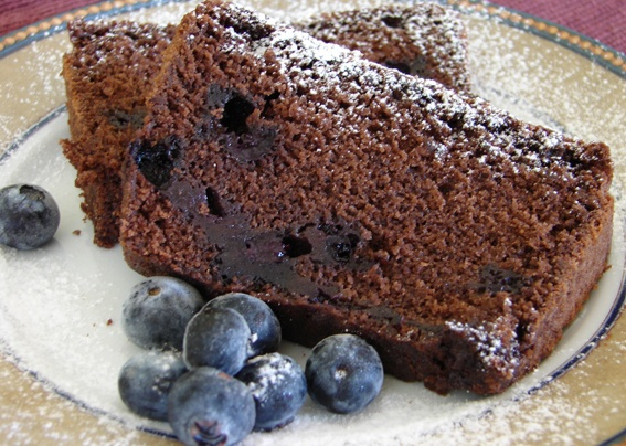 Chocolate and blueberries.