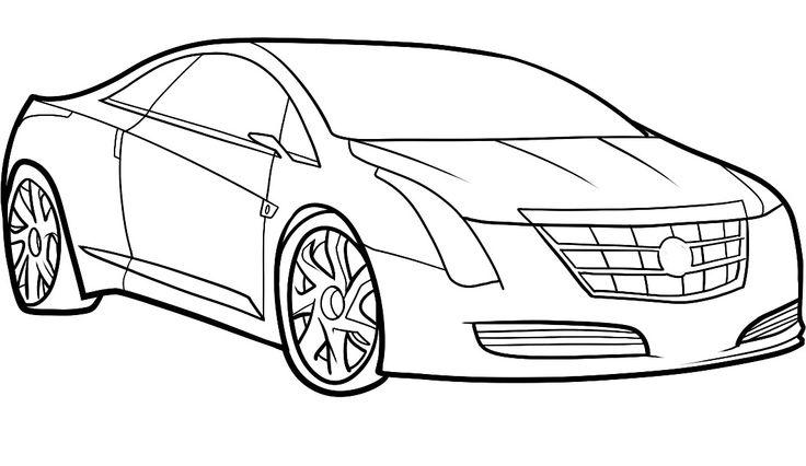 Cadillac Car Coloring Pages : Cadillac pages coloring