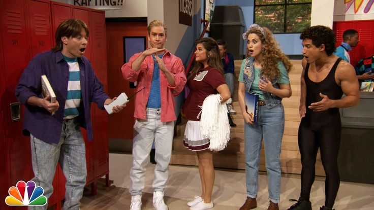 """While in L.A., Jimmy reminisces about his time at Bayside High with the gang from """"Saved By The Bell."""" Subscribe NOW to The Tonight Show Starring Jimmy Fallo..."""