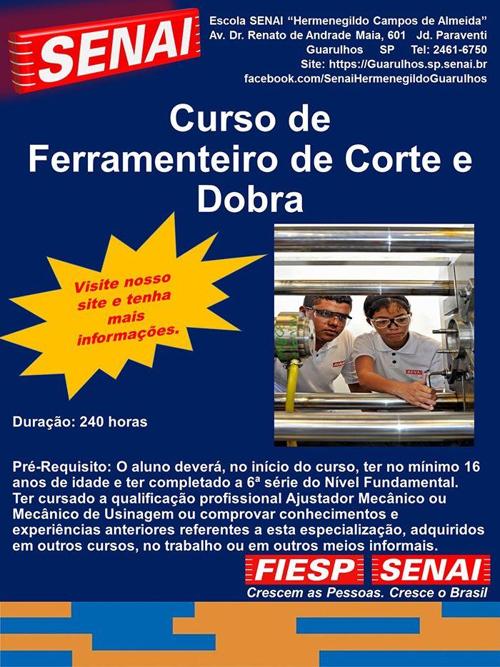 CURSO DE FERRAMENTEIRO CORTE E DOBRA