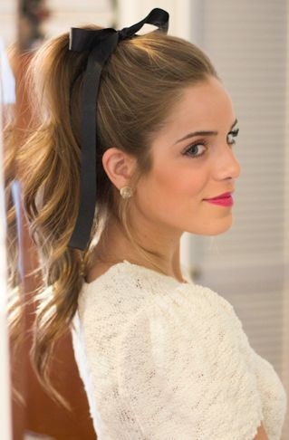high ponytail for the holidays. Holidays? Try everyday in FL heat!: